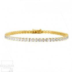 4-41-caraat-diamanten-tennisarmband-in-geel-goud (2)
