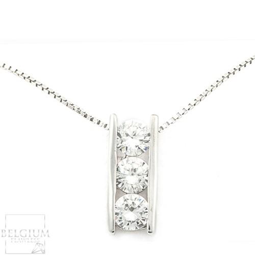 3 stone diamond pendant setting belgium flawless aloadofball Choice Image